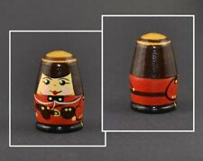 RUSSIAN HAND PAINTED WOOD THIMBLE