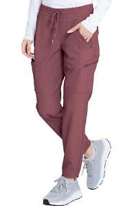 "Grey's Anatomy #553 Elastic/Draw Cargo Jogger Scrub Pant in ""Wine Shade"" Size XL"