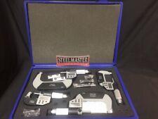 Digital LCD Micrometer Set. 4 Piece with 0-100mm Range.0-25mm, 25-50mm, 50-75mm,
