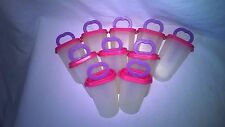 TUPPERWARE SET OF 10 ICE POP MOLDS make your own popscicles and save money