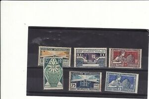 FRANCE - 1924/25 INT. EXHIBITION OF MODERN DECORATIVE ART SET 6 MINT HINGE REMAI