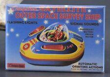 Satellite Outer Space Survey Ship - Fridge / Locker Magnet. Cragstan Vintage Toy