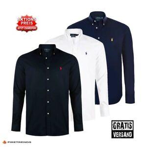 Ralph Lauren Herren Hemd, Langarm, Button Down, Slim Fit, S-XXL