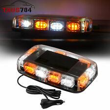 Rooftop 36 LED Strobe Light White Amber Car Truck Emergency Warning Flash Beacon