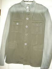 100% AUTHENTIC NEW MEN'S GUCCI ARMY GREEN HIBISCUS JACKET/COAT EU 54/US 42-44