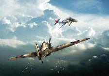 Huracán-de ninguna parte-avión-Guerra arte cartel impresión A3