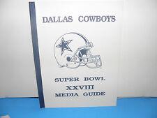 NFL Super Bowl XXVIII 28 Dallas Cowboys Media Guide