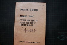 KOMATSU FG FD Forklift Chassis Parts Manual Book Catalog spare list 1987 shop