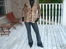Rare Elegant Unique Crocodile embossed Pony Fur jacket bolero Stroller S 0-4