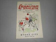 CHARLTON ATHLETIC  v  STOKE CITY  1933/4  ~ APRIL 14th    *****PRE-WAR*****