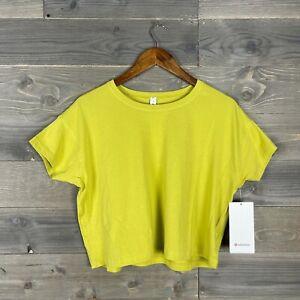NWT Lululemon Womens Yellow Pear Cates Tee Short Sleeve Active Shirt Sz 4