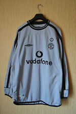 MANCHESTER UNITED ENGLAND 2001/2002 GOALKEEPERS FOOTBALL SHIRT JERSEY UMBRO