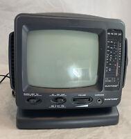 "Suntone PR1900 5"" Black White TV Radio Receiver VHF UHF AM FM Mini Portable TV"
