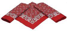 Betz 3 Pañuelos Bandanas para el cuello o la cabeza - tamaño 55x55 cm color rojo