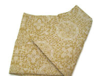 Pottery Barn Cotton Linen Wheat Sammie Tile Standard Pillow Cover Sham New