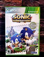 Sonic Generations Platinum Hits - XBOX 360 - Microsoft XBO 360 Brand NEW Sealed