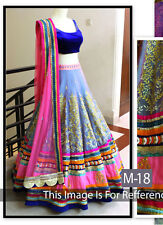 Blue Colour New Fancy Designer Lehenga Choli for Girls & Women Flowers Fashion