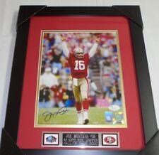 Joe Montana Signed San Francisco 49ers Framed Autograph 8X10 Photo JSA COA  (B)