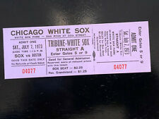 Chicago White Sox 1973 Unused Tictet Stub Mint Condition