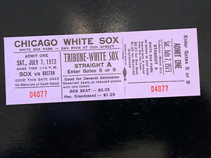 Chicago White Sox 1973 Unused Tictet Stub Mint Condition