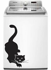 Cat 7 Decal Sticker for Dishwasher Refrigerator Washing Machine Stove Dorm