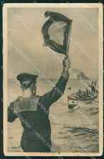 Militari Marina Militare Fascismo Avanguardista ONB Pisani cartolina XF6505