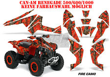 AMR Racing DECORO GRAPHIC KIT ATV CAN-AM Renegade, ds250, ds450, ds650 Fire CAMO B