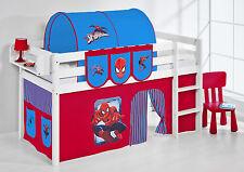 Juego de cama alta Cama Cuna JELLE 190x90 cm blanco lilokids Spiderman