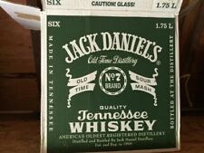 Jack Daniels 1.75 liter green label shipper case box- Empty
