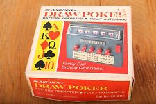 Vintage Archer Draw Poker Tandy Handheld Game Untested In Original Box