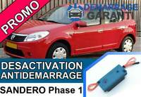 Clé de désactivation d'anti démarrage Dacia SANDERO PHASE 1