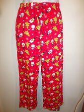 Intimo for her Women's CHRISTMAS Holiday Red Pajama Pants Snowmen Pine Trees