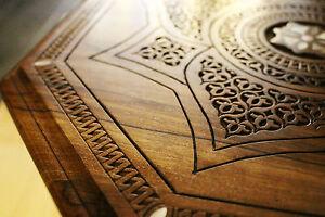 Oriental Beisttelltisch Handcraft Solid Walnut Wood, M 2-6
