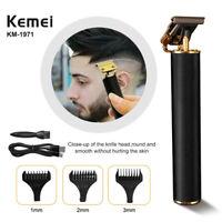 Kemei 1971 Pro T-Outliner sans fil squelette rechargeable tondeuse à cheveux