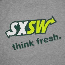 SXSW Subway T-Shirt Large South By Southwest Festival Restaurant Promo Austin