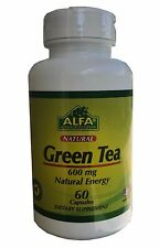 GREEN TEA EXTRACT STANDARDIZED 600mg PURE HERBAL SUPPLEMENT EGCG 60 CAPSULES