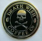 DEATH WISH COFFEE CO 2016 SOCIETY OF STRONG COFFEE CHALLENGE COIN + STICKER -NEW