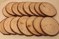 Holzscheiben Astscheiben Baumscheiben Fichte 15 Stück 8-10 cm