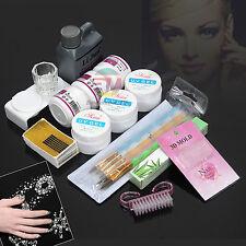 AU Stock Nail Art Care Starter Kit Acrylic Powder Liquid UV GEL Brush Tips SET