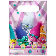 Trolls 6 Loot Bags Girls Birthday Party Pretty Name Plastic Sweets Treats Fun