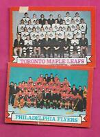 1973-74 OPC LEAFS + FLYERS TEAM PHOTO  GOOD CARD (INV# C0919)