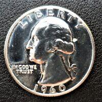 1960 P Washington Quarter 90% Silver BU Uncirculated Gem Proof