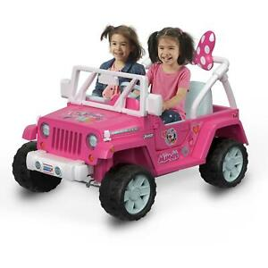 Power Wheels Disney Minnie Mouse Happy Helpers Jeep Wrangler Ride-On 5 MPH Radio