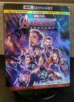 Avengers: Endgame ~ 4K Ultra HD + Blu-ray ~ w/Slipcover ~ NO DIGITAL ~ LIKE NEW