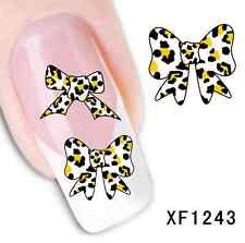 2pcs Row Nail Art Water Transfer Stickers Wraps Foils Decal Tips Manicure DIY