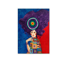Fashion Girl Wall Art Canvas Painting Vintage Poster Nordic Print Home Decor