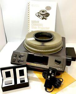 Kodak Carousel 5600 Slide Projector Lenses Remote Carousel 140 Slide Tray Tested