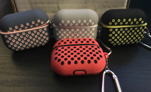 Lot of 4 NEW Air Pod Pro 3rd Gen Protective Double Color Silicone Cases w/hooks
