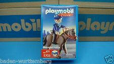 Playmobil 5703 Mounted Police Officer Horse mint in Box German Toy 126