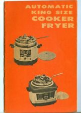 Vintage JAY KAY Automatic King Size Cooker Fryer Instructions & Recipe Booklet!